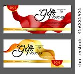 gift voucher. vector ... | Shutterstock .eps vector #456335935