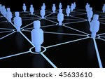 Abstract network - stock photo