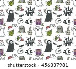 halloween seamless background | Shutterstock .eps vector #456337981