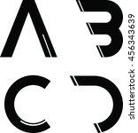 modern font | Shutterstock .eps vector #456343639