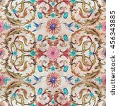 vintage seamless texture with... | Shutterstock . vector #456343885