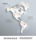 america political map 3d vector ... | Shutterstock .eps vector #456350347