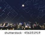Abstract City At Night With...