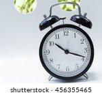 Clocks Back Clock Grass Agains...