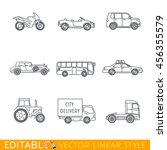transportation icon set include ... | Shutterstock .eps vector #456355579