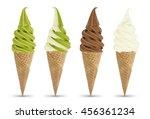 milk green tea chocolate mix... | Shutterstock . vector #456361234