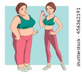 stages weight loss before and... | Shutterstock .eps vector #456362191