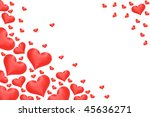 border made from  satin hearts. | Shutterstock . vector #45636271