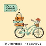 vector illustration. retro... | Shutterstock .eps vector #456364921