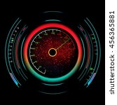speedometer isolated on black... | Shutterstock .eps vector #456365881