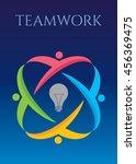 teamwork idea concept | Shutterstock .eps vector #456369475