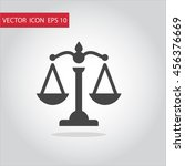 scales of justice icon vector...