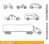 transportation icon set include ... | Shutterstock .eps vector #456388504