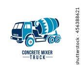 concrete mixer truck | Shutterstock .eps vector #456388621