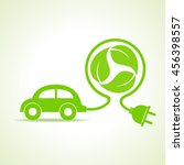 eco car concept with recycle... | Shutterstock .eps vector #456398557