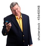 portrait of mature businessman... | Shutterstock . vector #45640048