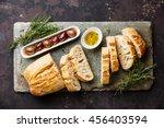 Fresh Ciabatta Bread Cut In...