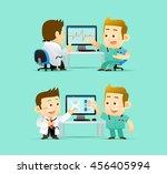vector illustration doctor... | Shutterstock .eps vector #456405994