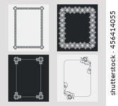 set of silhouette vertical... | Shutterstock .eps vector #456414055