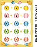 counting game for preschool... | Shutterstock .eps vector #456420145