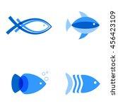 vector illustration of blue...   Shutterstock .eps vector #456423109