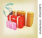 traveler's suitcases. family... | Shutterstock . vector #456423871