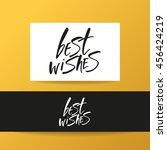 best wishes. lettering. best... | Shutterstock .eps vector #456424219