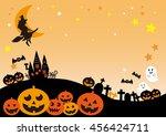 halloween night  jack o lantern | Shutterstock . vector #456424711