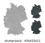 map of germany | Shutterstock .eps vector #456425611