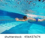 boy swimming in the pool | Shutterstock . vector #456437674