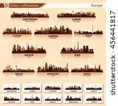 city skyline set. europe....   Shutterstock .eps vector #456441817