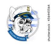 french bulldog portrait in... | Shutterstock .eps vector #456445564