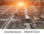 worker in the construction site ... | Shutterstock . vector #456447214