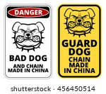 bad dog  chain made in china.... | Shutterstock .eps vector #456450514