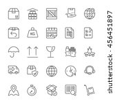set of icons isolated for... | Shutterstock .eps vector #456451897