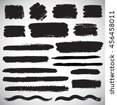 set of vector brush strokes ... | Shutterstock .eps vector #456458011