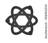 atom icon. simple flat logo of... | Shutterstock . vector #456461014