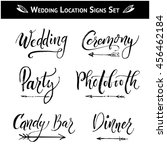 set of 9 wedding  birthday ... | Shutterstock .eps vector #456462184