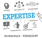expertise. chart with keyword...   Shutterstock .eps vector #456463249