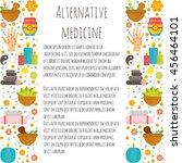 set alternative medicine.... | Shutterstock .eps vector #456464101