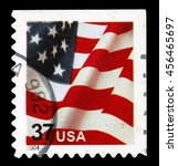 old postage stamp | Shutterstock . vector #456465697