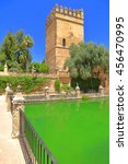 Small photo of Sunny pond decorates the medieval gardens of Alcazar of the Christian Monarchs (Alcazar de los Reyes Cristianos) Cordoba, Andalusia, Spain