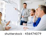 presentation and collaboration... | Shutterstock . vector #456474079