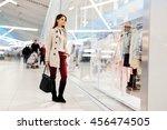 beautiful woman shopping trendy ... | Shutterstock . vector #456474505
