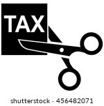 tax cut icon | Shutterstock .eps vector #456482071