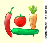 fresh  ripe and juicy... | Shutterstock .eps vector #456485101