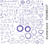 hand drawn sketch elements.... | Shutterstock .eps vector #456488137