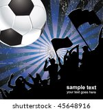football fans crowd and the ball   Shutterstock .eps vector #45648916