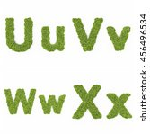 alphabet in tree and grass in... | Shutterstock . vector #456496534
