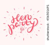 hen party banner. | Shutterstock .eps vector #456501691